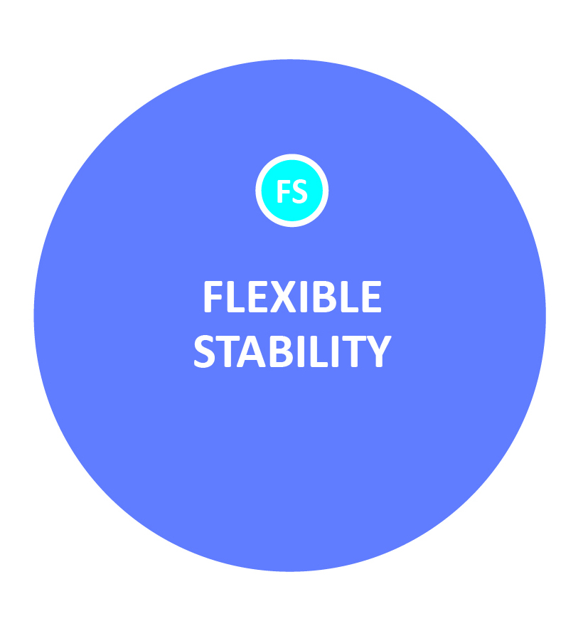 Flexible stability means being able to shift between two seemingly opposite capacities as the need arises -