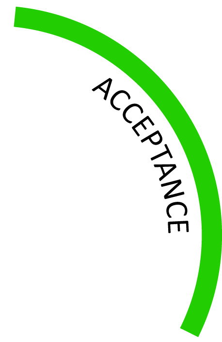 Acceptance of difficulty, but not being resigned in the face of problems -