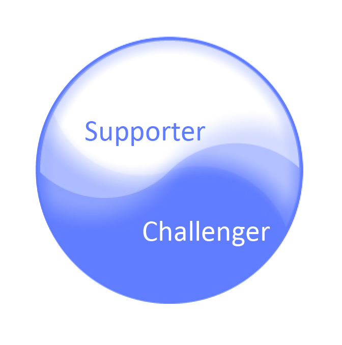 Helpers have to navigate a delicate and dynamic balance between being supportive and being challenging -