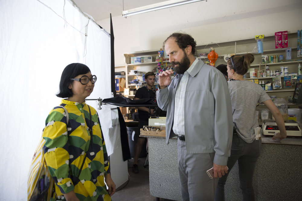 Costume Designer Shirley Kurata and Brett Gelman