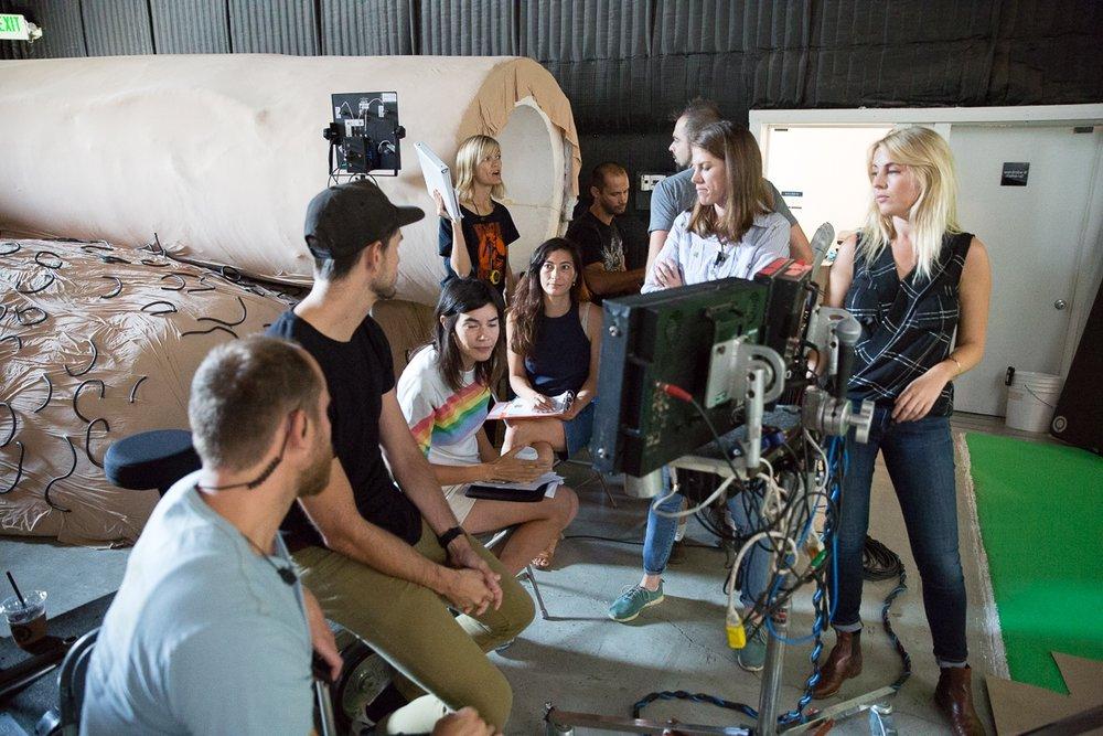 DP Brett Pawlak, VFX supervisor Eva Flodstrom, Jessica Sanders, 1st AD Stephanie Janesh & producer Louise Shore