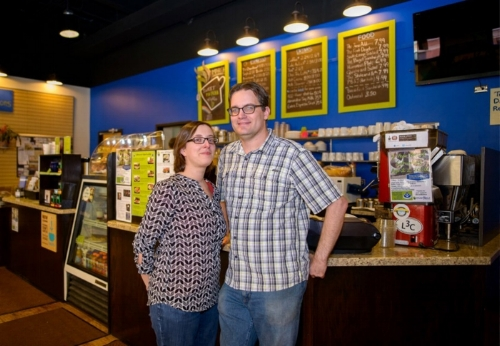 Amanda and Brandon Neely, co-founders of Overflow Coffee Bar.