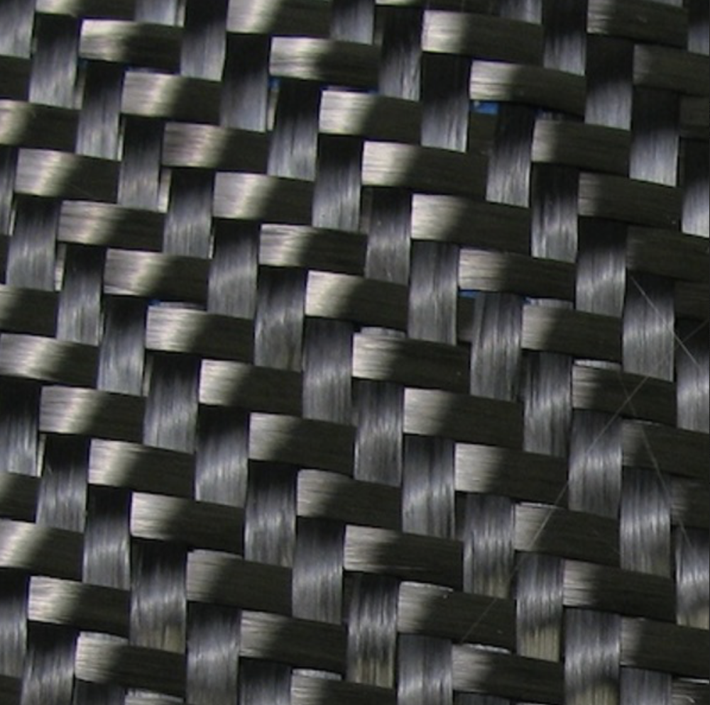 This is an example of what other carbon fiber weaves on the market can look like.  The standard weave to weave ratio is 2:1 and sometimes, even 3:1.