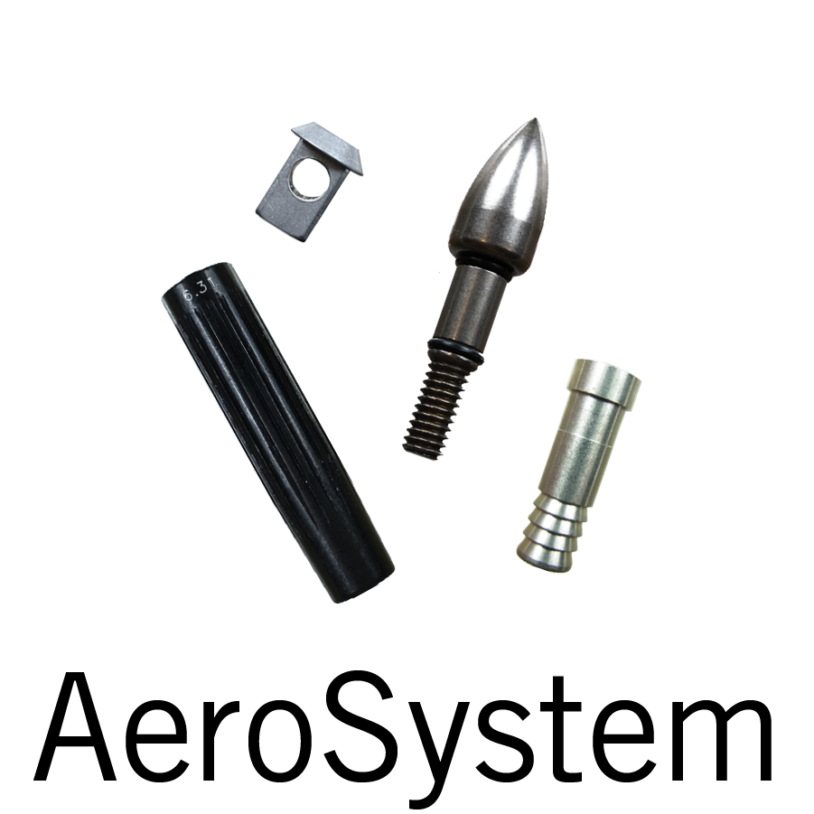 Note that the AeroSystem components cover a large range of sizes. See the size charts on each page for more details.