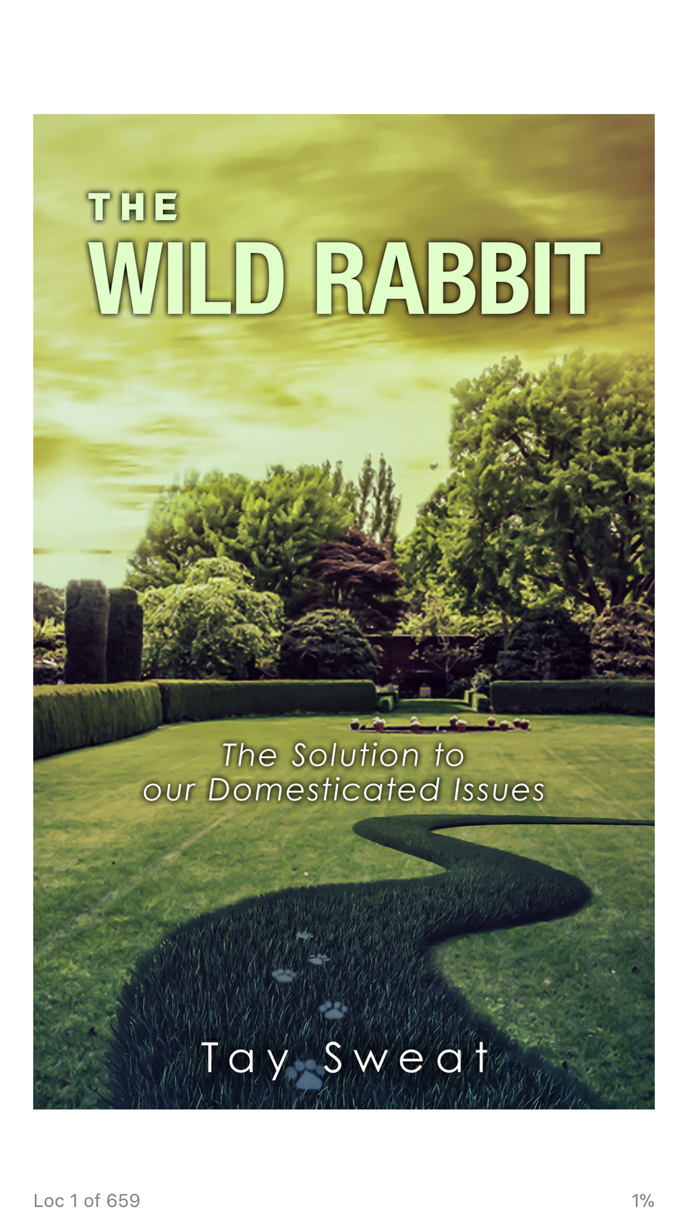 """""""The Wild Rabbit: The Solution to our Domesticated Issues.""""     Author: Tay Sweat"""