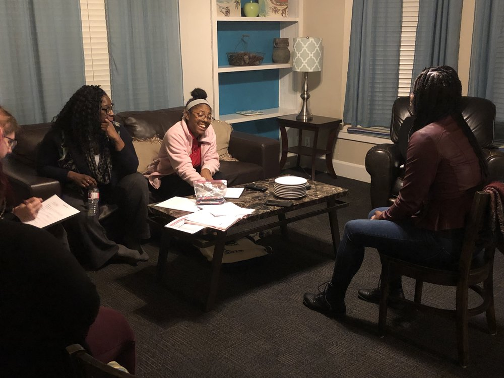 Date: Thursday February 28, 2019    Organization:    Our Friends Place     Location: Dallas, TX    Cleo discussed Financial Planning with the resident's of    Beasley House    during their monthly skills night. We discussed the importance of being aware of our spending habits.