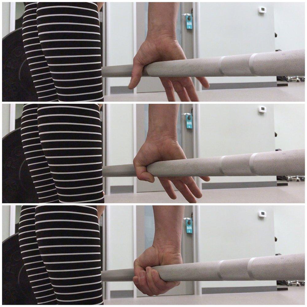 Mixed grip.