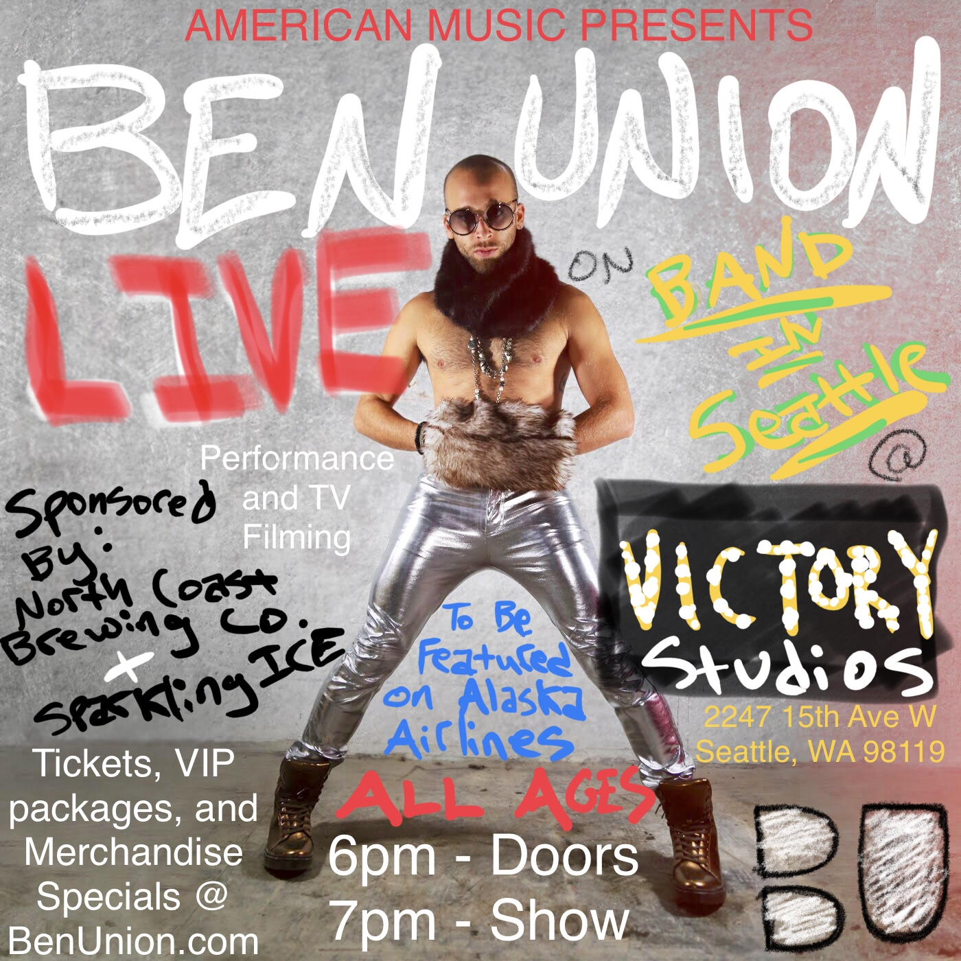 Ben Union LIVE TV Filming on Band In Seattle — The Official