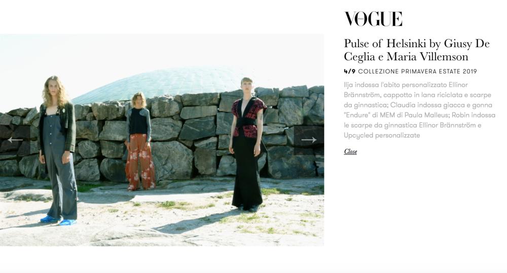 Vogue Italia feature by Giusy De Ceglia & Maria Villemson