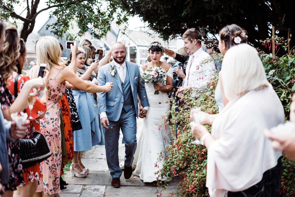 Lewes wedding confetti shot