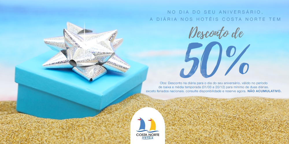 Birthday Promotion - Your day is a very special day! On your birthday, the daily Hotels in North Coast has 50% discount..MORE INFO  →