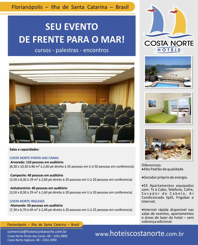 Events - Event package Our event space at the Hotel Costa Norte Ponta das Canas holds up to 80 people distributed in two rooms, with all the infrastructure that your company needs.VIEW MORE →