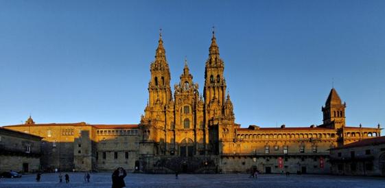 A Basílica de Santiago da Compostela. Imagem: reprodução / Colegioweb.
