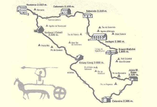 Carros de Foc - Le Refuge de Colomèrs fait partie du circuit aux neuf refuges du Parc. Le circuit peut être fait avec la combinaison et le nombre d'étapes que vous voulez. Plus d'informations: carrosdefoc.com