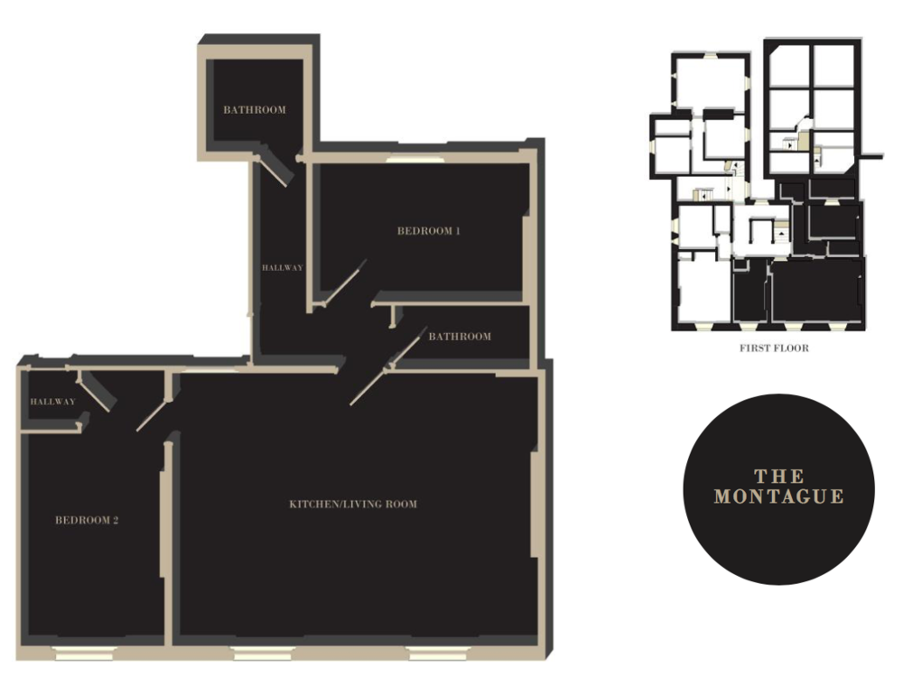 The Montague floor plan