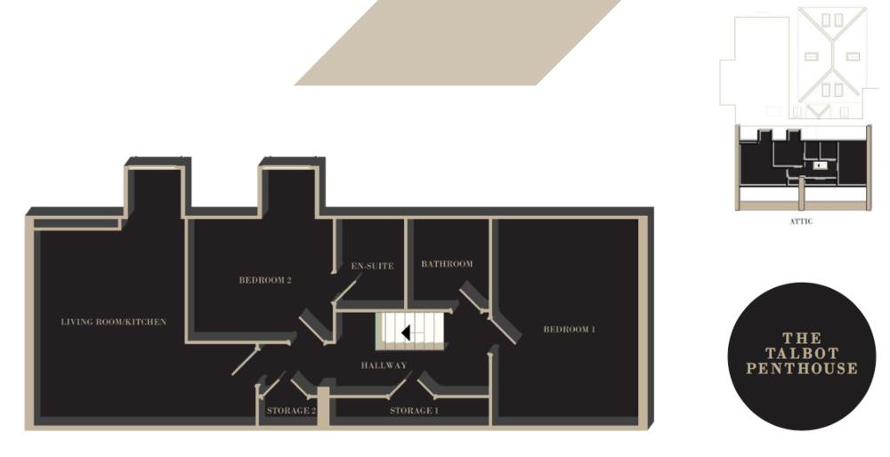 The Talbot Penthouse floor plan