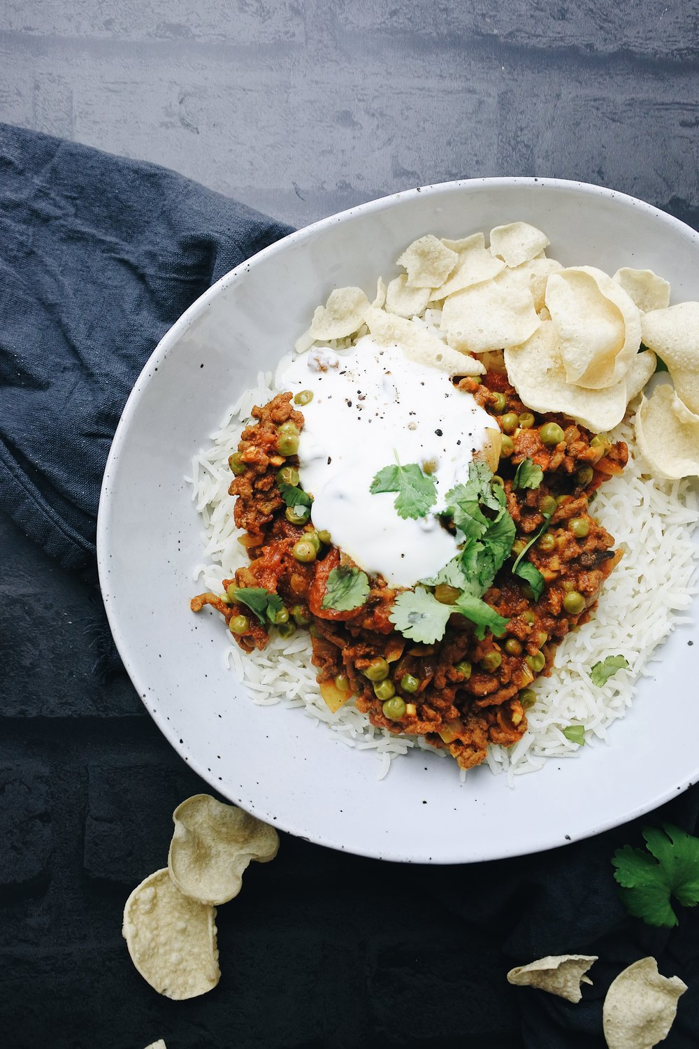 MINCE KEEMA CURRY WITH PEAS