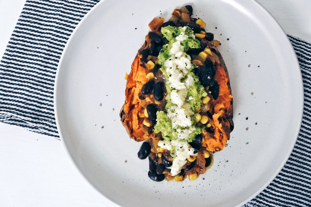 MEXICAN STUFFED SWEET POTATO