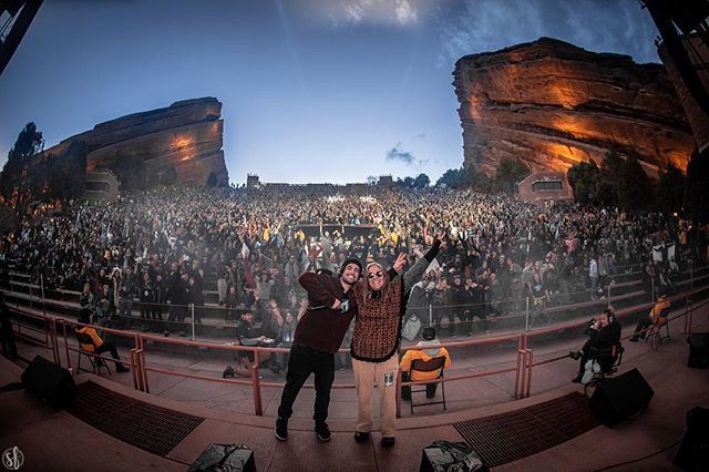 Red rocks last night with my momma 🖤 photo by @shutterfinger