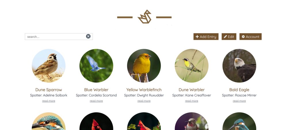 Oregon Birdwatching - Help your community to record their wildlife sightings in a visual way with an option to also add the location.