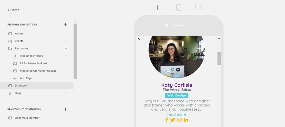 Add entries on the go - Your community members can easily add or update profiles from their phones.