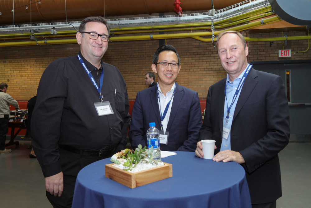 Left to right:     Jay Jakub   ,    Kwang Kim    from the World Bank and BASF Chairman and CEO    Wayne Smith