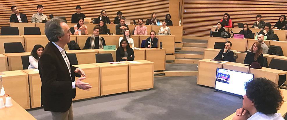 Bruno Roche Inspires Oxford University MBA Students -