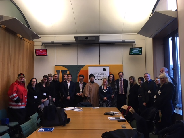 Dr Lisa Cameron MP, Chair of the APPG for Textiles and Fashion, with Tamara Cincik CEO of Fashion Roundtable and Guests at the APPG roundtable on Fashion Trade with China.