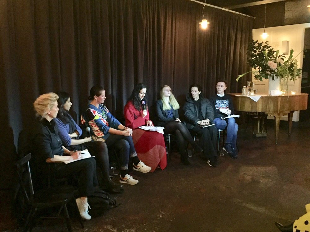 1ST ANNIVERSARY: FASHION & BREXIT - NOVEMBER 2018Speakers: Rushanara Ali MP, Zowie Broach Head of Fashion RCA, Cozette McGreery, Professor Swati Dhingra Associate Professor of Economics LSE, Lucy Harris Leavers of Britain, Darren Grimes Institute of Economic Affairs, Katharine Hamnett CBE