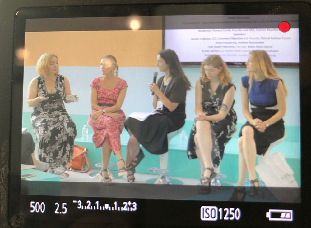 TRANSPARENCY PURE LONDON - JULY 2018Speakers: Eszter Kantor Fashion Roundtable Jodi Muter-Hamilton CEO and Founder Black Neon Digital, Sophie Slater Birdsong London, Tamsin Lejeune CEO The Common Objective