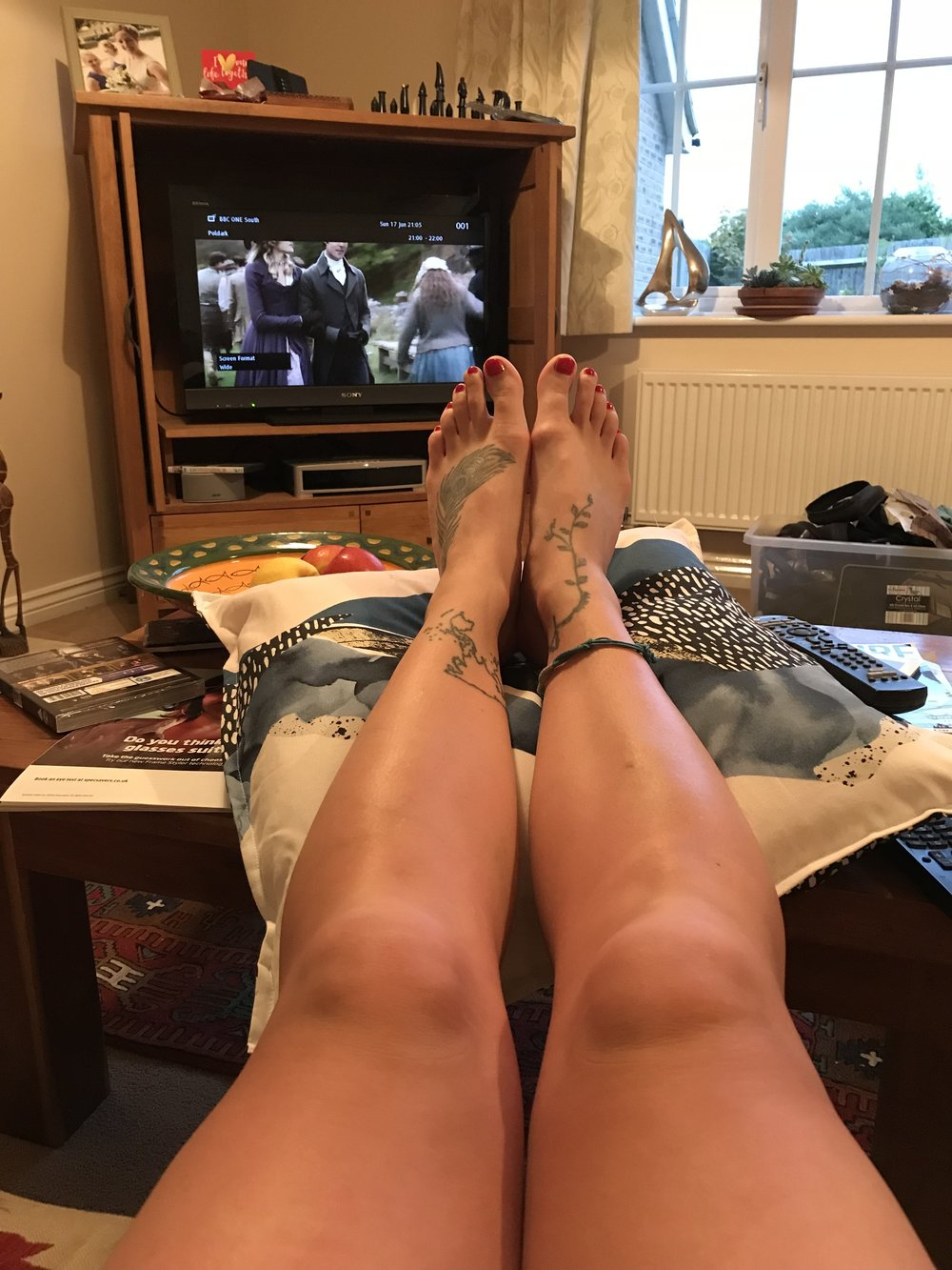 Feet up finally