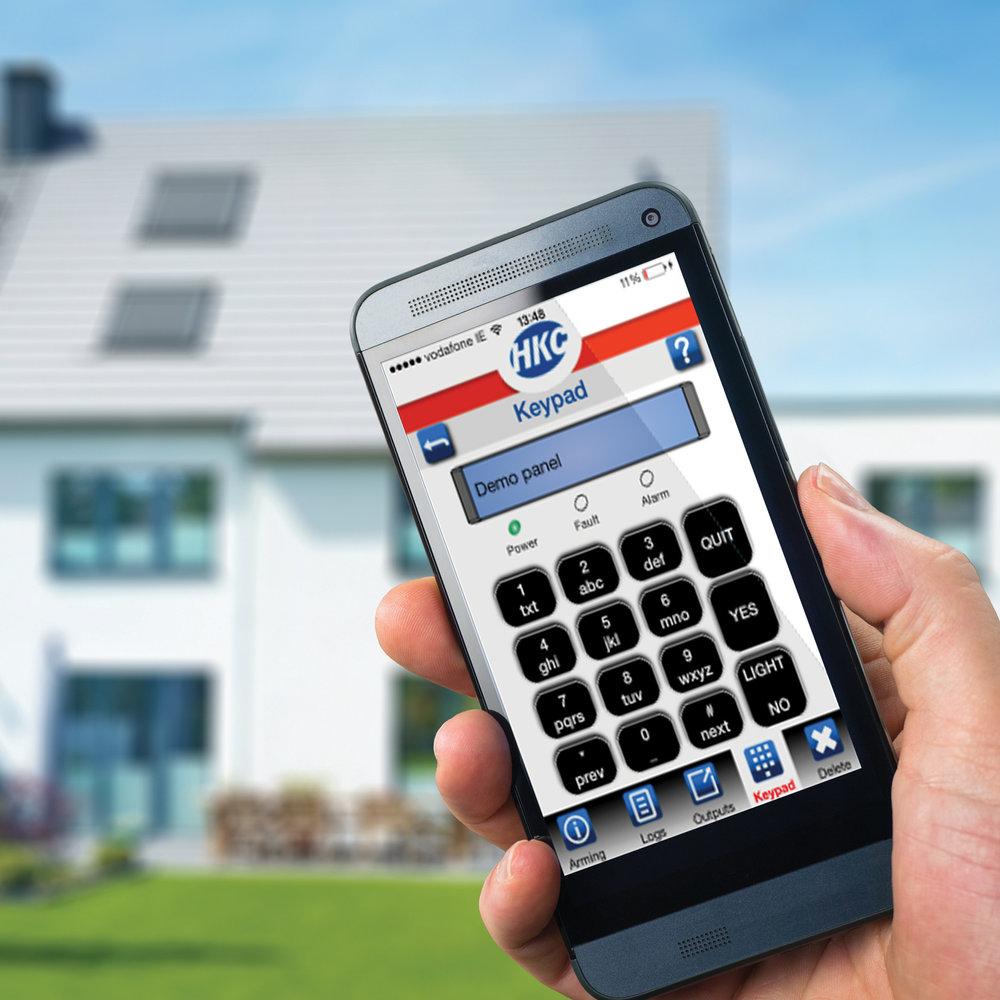 Control your Intruder Alarm System via our smart app