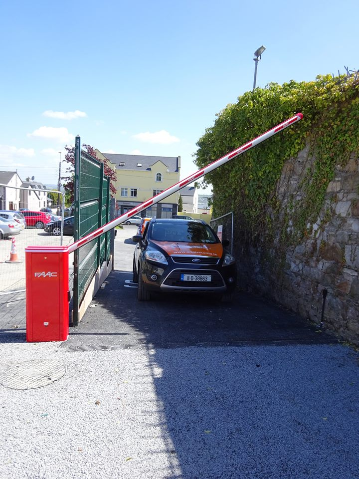 Parking Barrier fitted in The Letterkenny Revenue Offices.