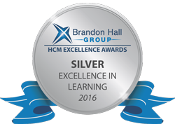 2016 Silver Exellence in Learning Brandon Hall Group HCM Excellence Awards medal