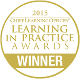 2015 Chief Learning Officer Learning in Practice Awards Winner medal