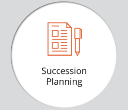 "The graphic displays an icon and the text ""Succession Planning."""
