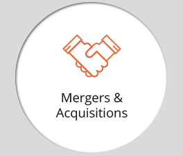"The graphic displays an icon and the text ""Mergers & Acquisitions."""