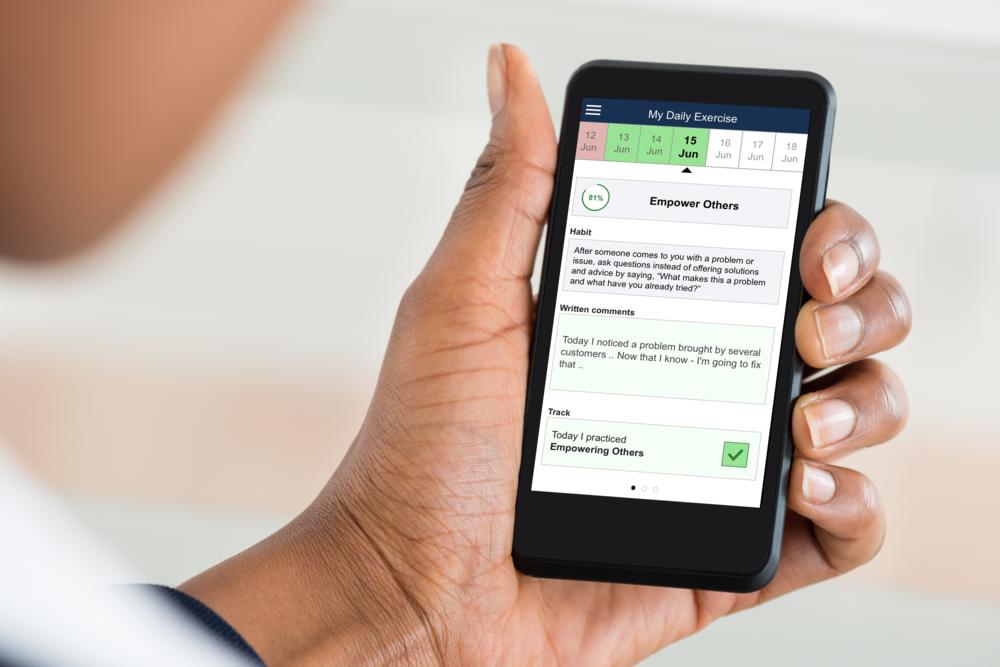 Leader Habit Phone App Graphic