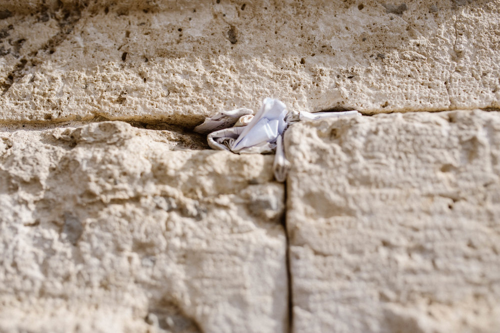The Western Wall - Where people leave notes and prayers