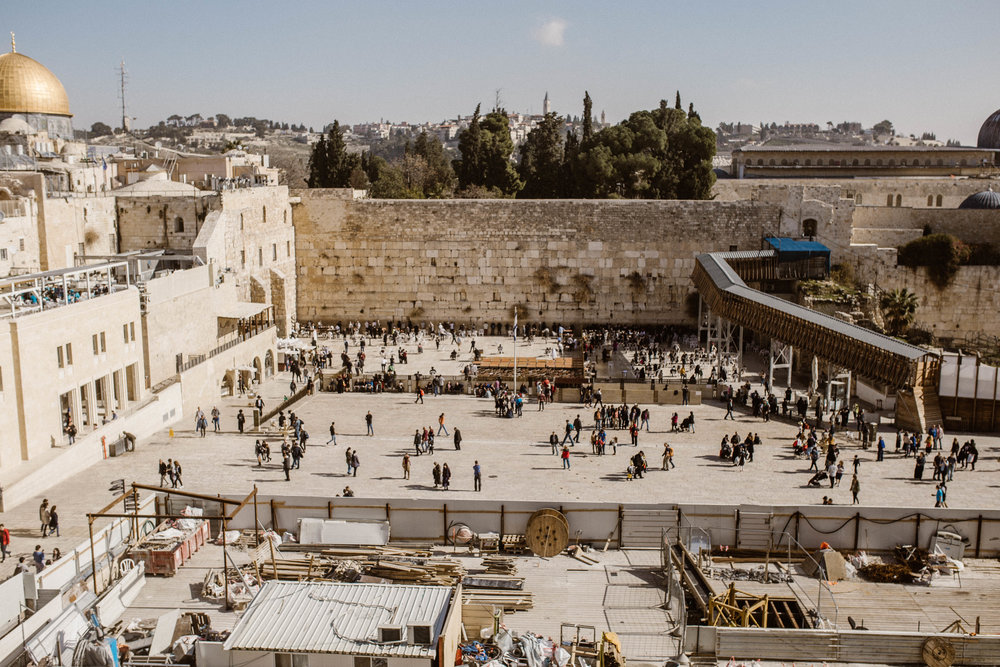 The Western Wall - Left side is men right side is women and children
