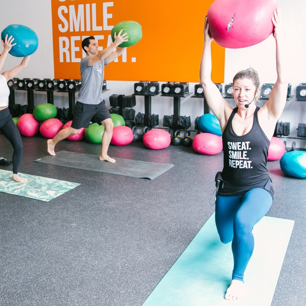"""GETnFit    For the energetic YOGAthlete.  A barefoot high energy interval style workout using a weighted Ugi ball with options for all fitness levels.   """"Let the GAINS begin!"""""""
