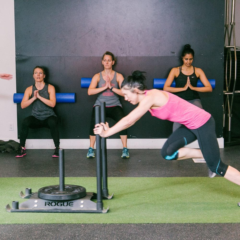 """GETnRIP'D   For the YOGAthlete who wants to push harder, move faster, jump higher and sweat more. Must wear INDOOR shoes for this class.  A high intensity conditioning circuit focused on strength and athleticism.  """"The body achieves what the mind believes."""""""