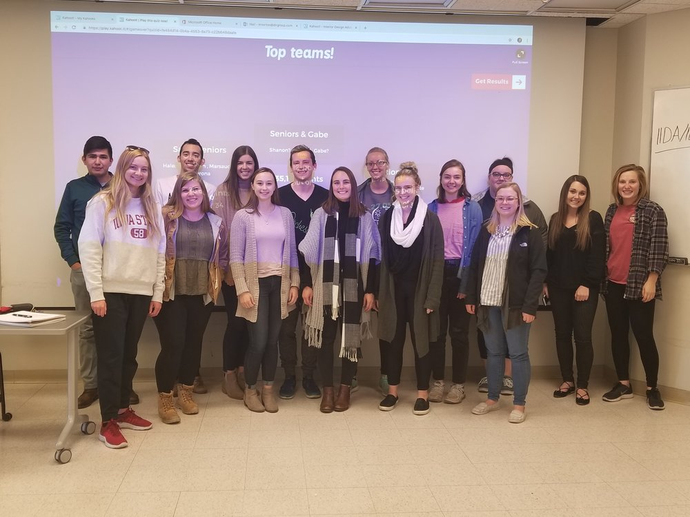 ISU - The Iowa State University IIDA Student members also competed in a heated game of Interior Design Advocacy Jeopardy!