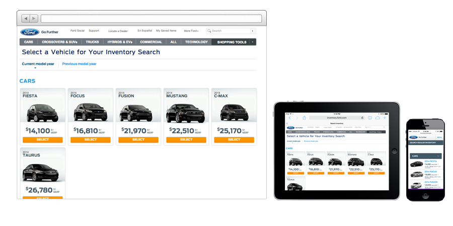 A cross-functional search and browse tool for Ford. An exciting opportunity to understand the drivers of small coups to oversized trucks.