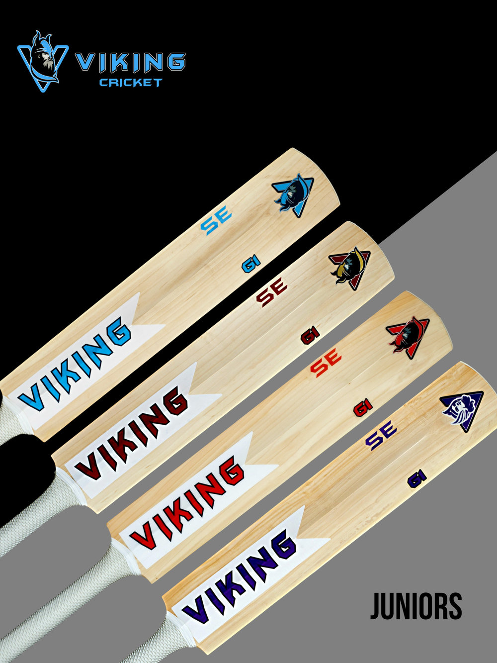 - Whether it be Odin, Thor, Jorvik or Valkyrie, as a Junior you can choose which bat you would like.It will be made from the same English willow our senior bats are made from, so you know you'll be batting with the best.You'll have a bat that doesn't just look great but more importantly allows you to play your shots and grow in confidence as a cricketer.Our master batmakers have year's of experience in knowing what makes a great bat. So all you need to do is decide which Viking your going to take out to bat.Available in English willow grades 1 or 2In sizes Harrow, 6, 5 and 4 (other sizes available on request.)