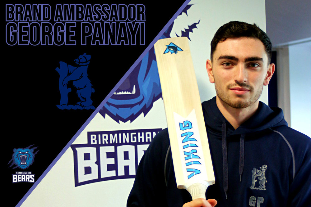 George Panayi - 21 year old George is a seam bowling all -rounder, he played his first championship cricket for the bears in 2017 and did well with both bat and ball.George has been in the Bears academy since he was 14. a seamer who generates good pace and bounce while swinging the ball away.He can also deliver game changing contributions with the bat.George has played for England under 19s, we think 2019 will be an exciting one for Georgewe look forward to seeing him with his Odin during the season. you can follow George on twitter twitter.com/GPanayi