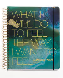 Danielle LaPorte's Desire Map Planner:  Part planner, part              journal, part coach- Laporte's Desire Map Planner does just that. Plus it is gorgeous! Now the size is a bit bulky, but it does let you bring an entire year with you.