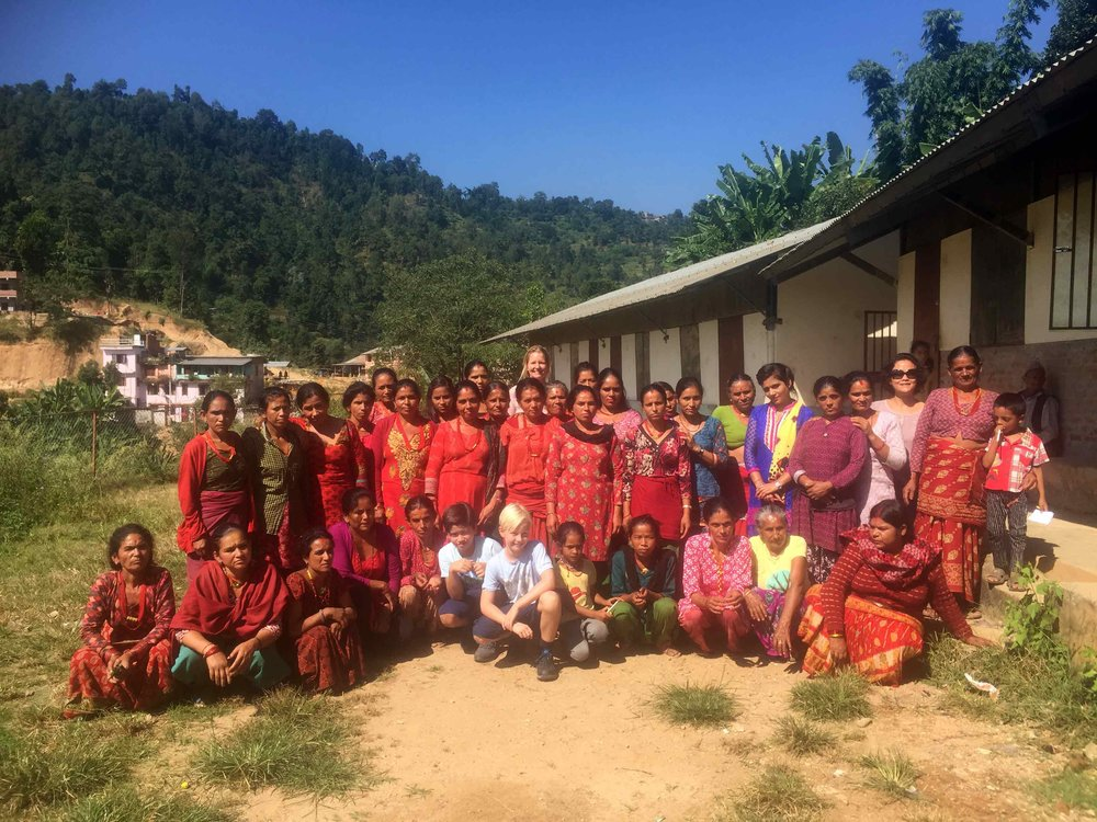 Visiting potential candidates for a masonry training project in Sindupalchowk, Nepal October 18, 2017