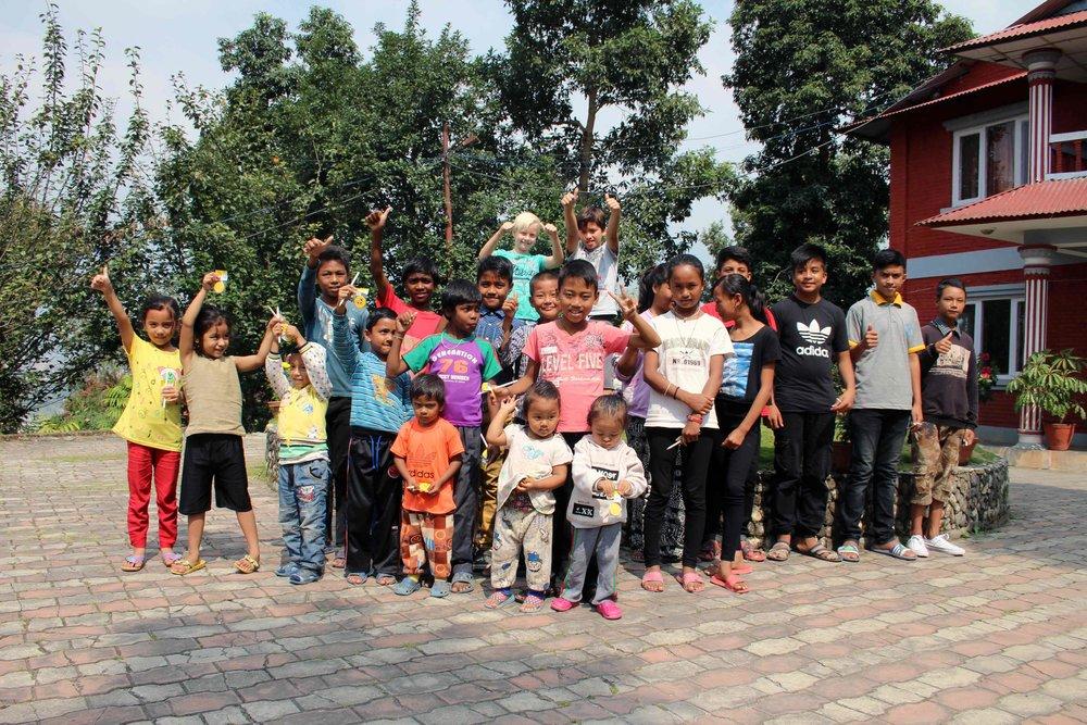 Visiting New Sadle's school, a local NGO near Kathmandu, Nepal, October 15, 2017