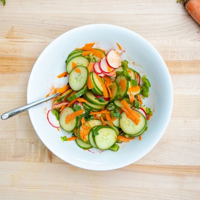 #whatsforlunch #wednesday Did you have a chance to check out our Thai Cucumber Sweet Chili Salad recipe yet? It makes for a super simple lunch!⠀ .⠀ .⠀ .⠀ .⠀ .⠀ #glutenfreediet #skyvalleyfoods #exploreorganic #naturesflavors #howtobeorganic #foodporn #foodstagram #eatitfortheinsta #foodgasm #delicious #feedfeed #thefeedfeed #huffposttaste #foodie_features #foodoftheday #foodpost #foodaddict #food #foodie #organic #cleaneating  #vegan #vegetarian #yum #foodporn #foodstagram #glutenfree #flexitarian